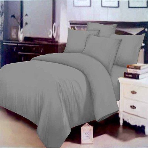 Foto Produk Rosewell Bed Cover Microtex Polos Single Abu (Bed Cover Only) dari toko-chelsea