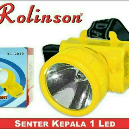 Foto Produk Senter Kepala / Headlamp 1 LED Rolinson RL-2019 Baterai dari HK Shop Grosir