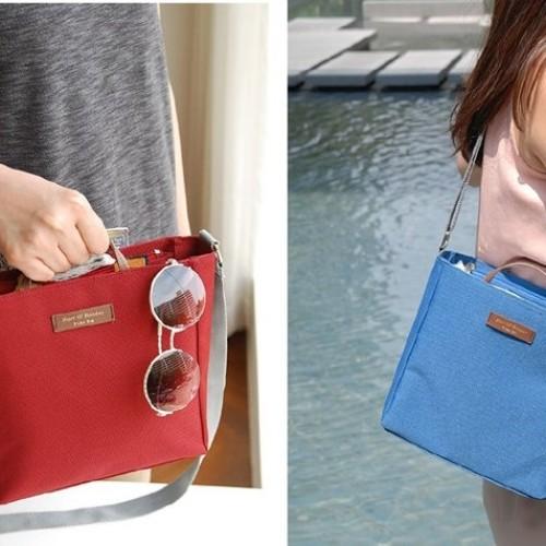 Foto Produk Korean Travel Pick Bag / Travel Organizer / Tas Selempang - Biru dari EnnWen Online Store