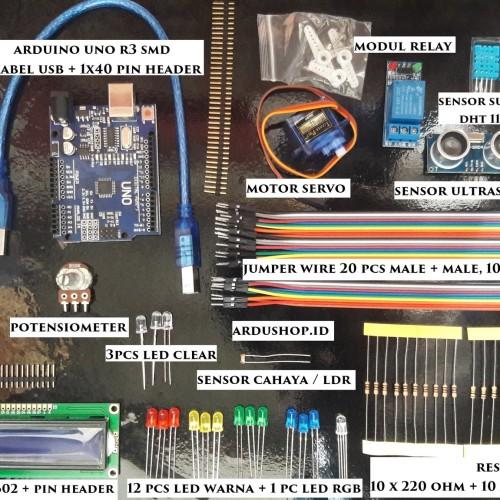 Foto Produk Starter Kit Arduino - UNO R3 Compatible Paket Untuk Pemula dari ARDUSHOP-ID