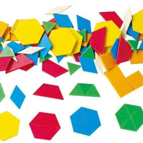 Foto Produk Gigo Plastic Pattern Blocks Alat Peraga Matematika dari Gigo Toys