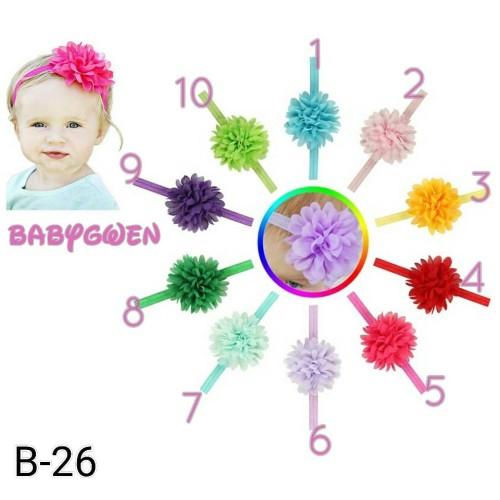 Foto Produk bando bayi dan anak headband bandana bunga - no 8 hijau tua dari BabyGwen