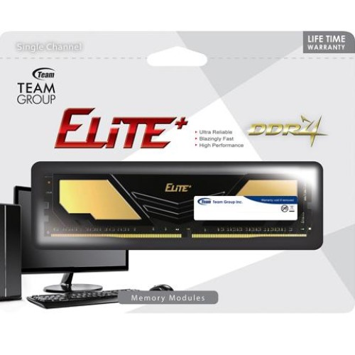 Foto Produk RAM Team Elite Plus DDR4 PC19200 2400Mhz 8GB TPD48GM2400HC1601 dari Yoestore