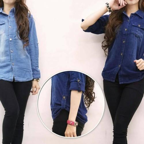 Foto Produk Kemeja Jeans ABG - Biru Muda dari Toko Vincent 42