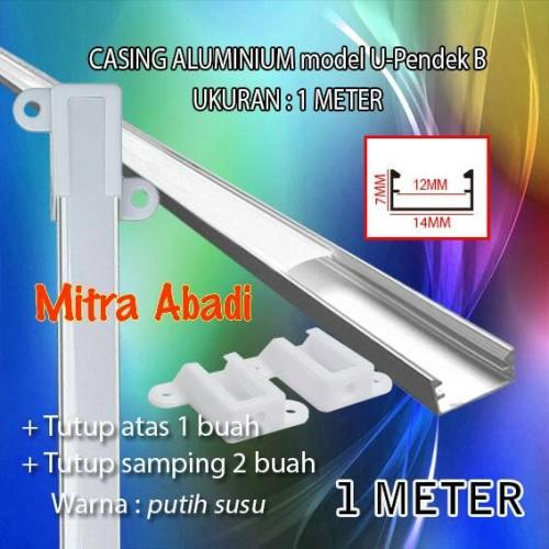 Foto Produk Casing Aluminium for Hard Strip LED Model U-Pendek B 1 Meter dari Mitra Abadi LED