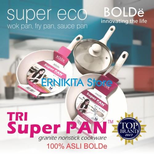 Foto Produk SUPER PAN BOLDe   PANCI GRANITE CERAMIC COOKWARE SET   FREE BUBBLE dari ERNIKITA Store