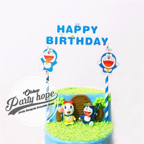Foto Produk topper cake doraemon / hiasan kue doraemon / atasan kue / topper cupca dari PARTY HOPE 2