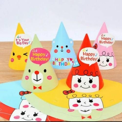 Foto Produk Korean Cute Party Hat/ Topi Pesta Ulang Tahun Lucu Bear, Chick, Girl - Bear Pink dari Pestaphoria