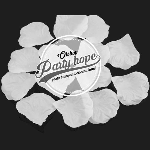 Foto Produk Rose Petals putih / Kelopak Bunga Mawar putih / Rose Petals white dari PARTY HOPE 2