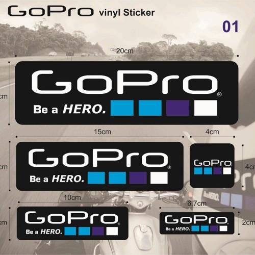 Foto Produk Sticker/Stiker Gopro Set untuk helm/motor agv kyt ink arai cbr ninja dari Fuel