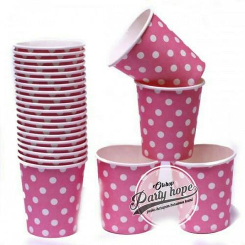 Foto Produk Souvenir Ultah / Gelas Polkadot pink dari PARTY HOPE 2