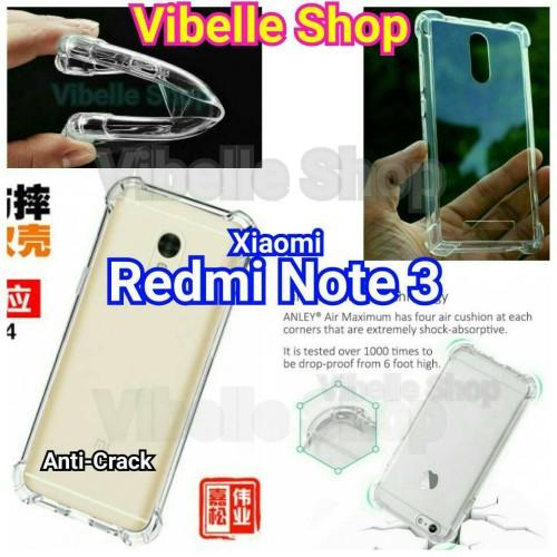 Foto Produk Softcase AntiCrack Xiaomi Redmi Note 3 Pro Anti Crack Shock Case Note3 dari Vibelle Shop