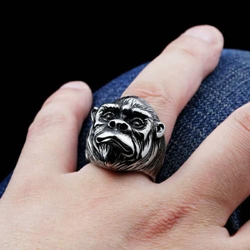 Foto Produk skull ring / cincin tengkorak import model apes monyet dari tokonline jakarta