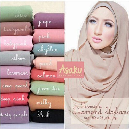 Foto Produk jilbab/hijab panjang Pasmina Diamond Italiano dari Ararya-grosir