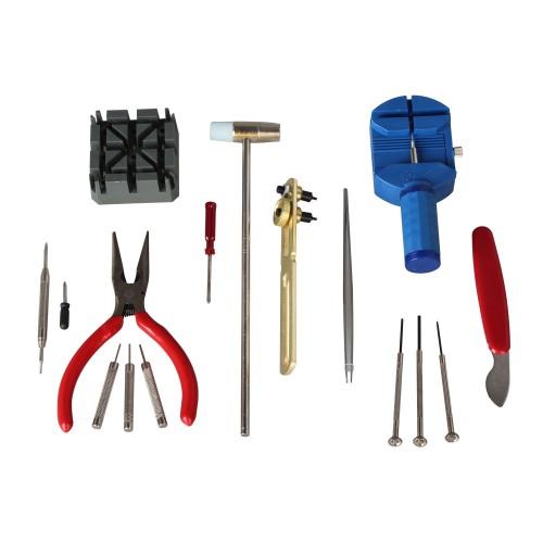 Foto Produk Alat Set Service Jam Tangan Tools Kit Watch Pemotong Rantai Lepas Tali dari grojam
