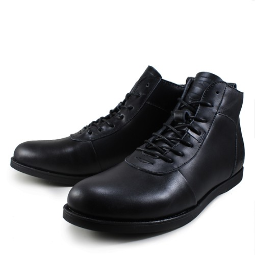 Foto Produk Sepatu Boots Pria Sauqi Brodo Racing Black Kulit Casual Kerja Kantor dari Gudang Sepatu Bandung
