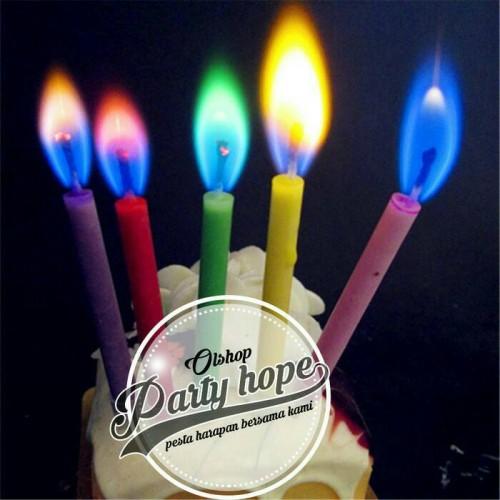 Foto Produk Lilin Colour Flame / Lilin Api Warna/ Lilin Ulatah Warna / Lilin Warna dari PARTY HOPE 2