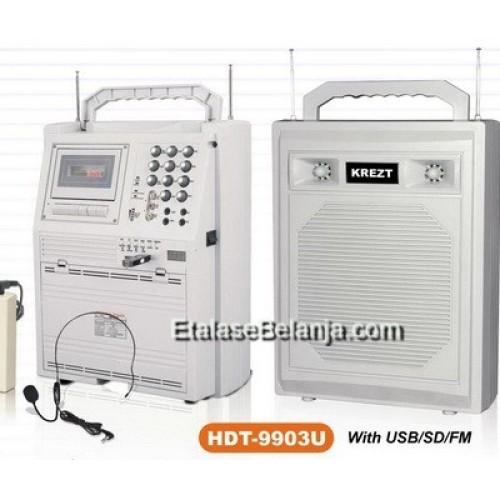Foto Produk PORTABLE SOUND SYSTEM KREZT HDT-9903U - HDT-9903 U - Putih dari EtalaseBelanja