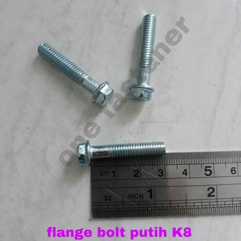 Foto Produk flange bolt putih 6x30 K8 dari ONE_FASTENER