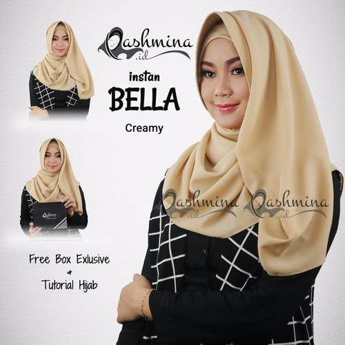 Jual Exclusive Pashmina Instan Bella Creamy Jakarta Utara Kios Hijab Muslimah Tokopedia