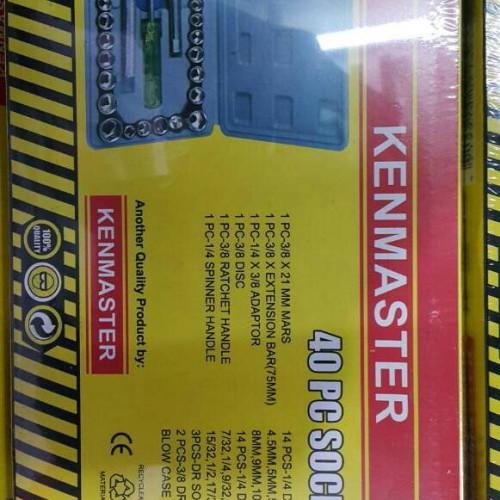 Foto Produk Kenmaster Socket Wrench Set 40 pcs Kunci Sok 40 Sockets dari TOKO BESI TIMUR JAYA