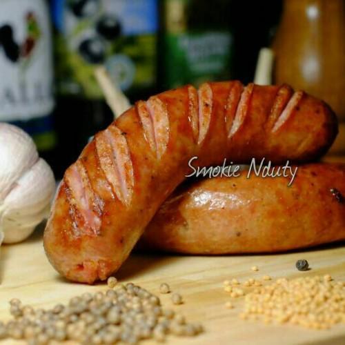 "Foto Produk Sosis Babi Asap ""Jagerwurst"" dari Smokie Nduty"