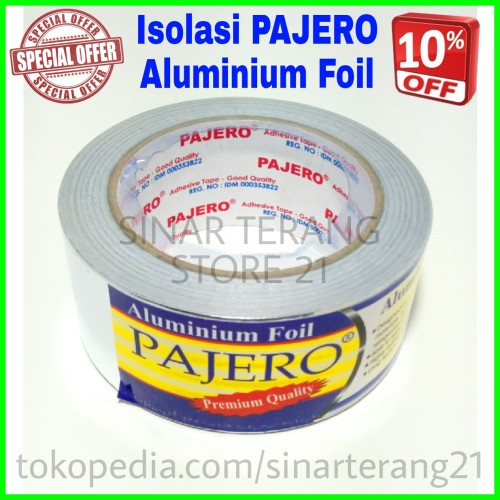 Foto Produk Isolasi ALUMINIUM FOIL PAJERO Tape Lakban Solasi AC TAHAN ANTI PANAS dari TOKO SINAR TERANG
