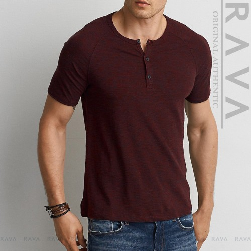 Foto Produk Baju Kaos Pria Raglan Henley Oblong by RAVA PREMIUM (BEST SELLER) - Navy, M dari RAVA ID