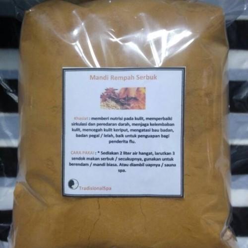 Foto Produk Mandi Rempah Bentuk Serbuk Kemasan 500 Gram ( Lebih Praktis ) dari SrikandiTradisionalspa