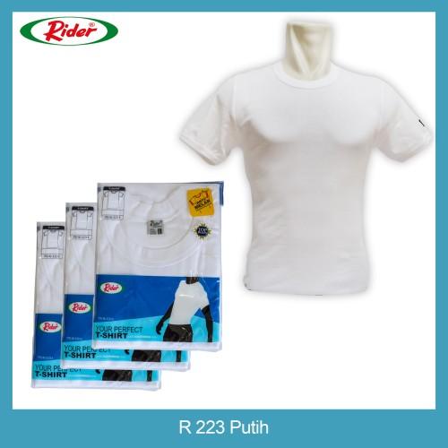 Foto Produk T-Shirt / Kaos Dalam / Oblong RIDER PUTIH - Style R223B - M dari BintangAR