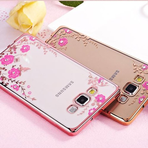 Foto Produk Samsung J2 J5 J7 Prime On5 On7 2016 soft case casing cover TPU FLOWER - J2 Prime, Gold dari Case Pedia