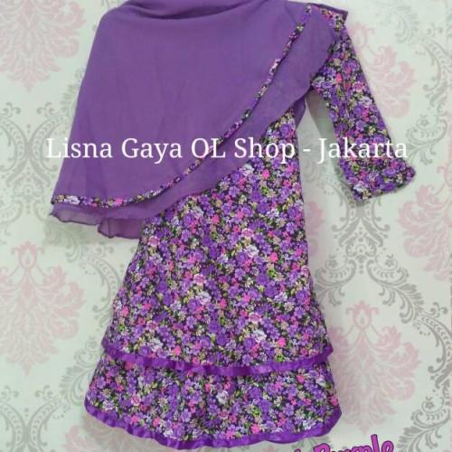 Foto Produk Gamis Katun Jepang Balita/ Baju Muslim Anak Perempuan dari Lisna Gaya
