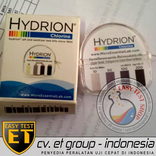 Foto Produk Hydrion Chlorine Test Kit   Tes Klorin Air   Testkit / Teskit Paper OK dari Sooper Shop
