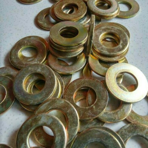 Foto Produk ring plat m14 kuning 100 pc dari ONE_FASTENER