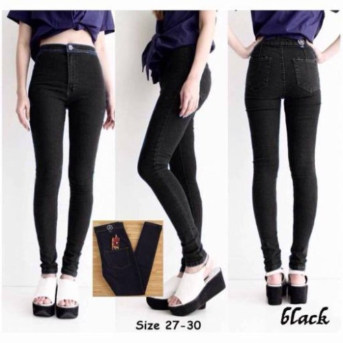 Foto Produk High waist jean black dari Viva Fashion