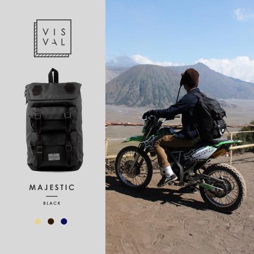 Foto Produk Tas Visval Majestic black Series / Tas Laptop Backpack dari Tas Denim Bandung