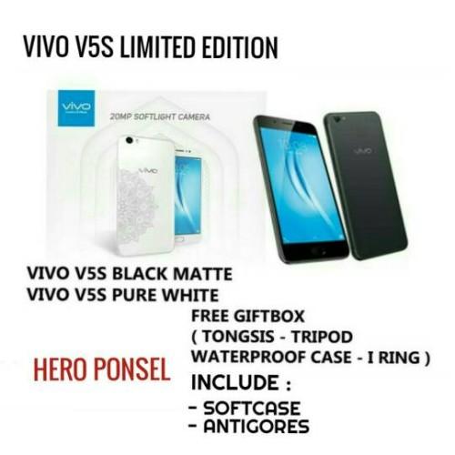 Foto Produk VIVO V5S / BLACK MATTE & PURE WHITE GARANSI RESMI 2 TAHUN dari HERO PONSEL.