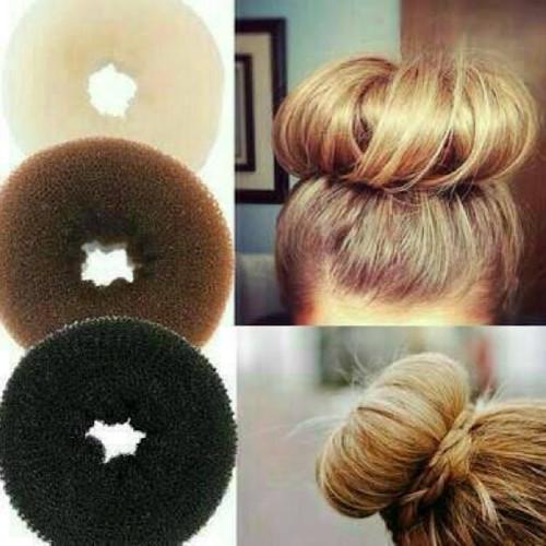Foto Produk bun hair donut size s / sanggul / cepolan - Hitam dari supermurah88