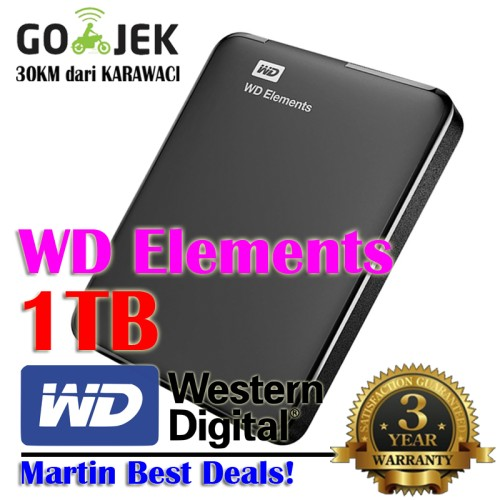 Foto Produk WD Elements 1TB | 2.5 Inch USB 3.0 | Element 1 TB dari MARTIN BEST DEALS