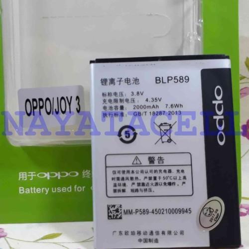 Foto Produk Baterai Oppo BLP-589 Original 99% JOY 3,MIRROR 3 BLP589 Batre Battery dari NYATACELL