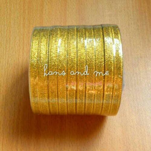"""Foto Produk Pita Emas Gold 1/4"""" 25 yard (Jual per rol) - Pita Souvenir dari Hans and Me"""