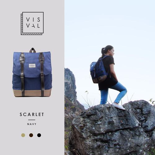 Foto Produk TAS RANSEL VISVAL SCARLET NAVY || BACKPACK LAPTOP dari About Bags
