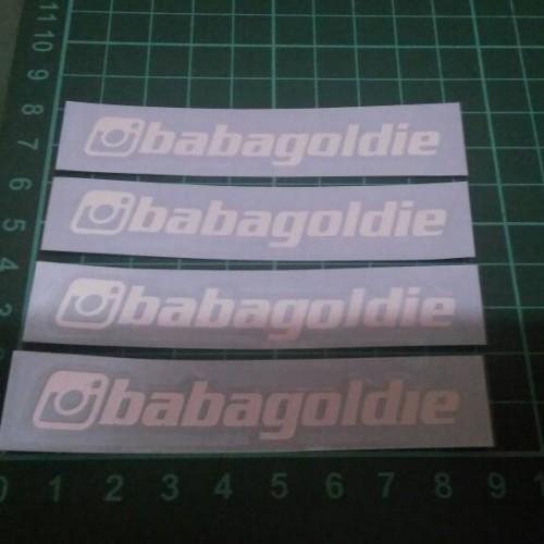 Foto Produk Custom Cutting Sticker ID Instagram dari Teras Digital