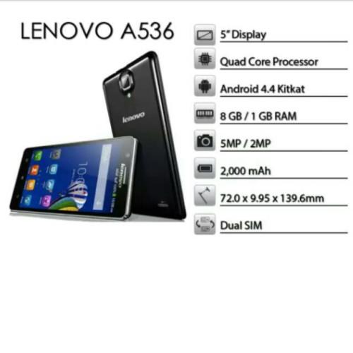 Foto Produk HP LENOVO A536 8GB RAM 1GB GARANSI 1 TAHUN dari imas shop nusantara
