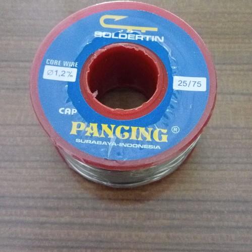Foto Produk TIMAH SOLDER(solder tin) CAP PANCING 25/75 - 1,2mm-250 gram(1/4kg) dari karya lestari electronic