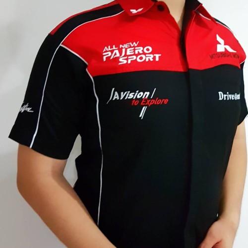 Foto Produk Baju Seragam Otomotif PAJERO Baju Komunitas Moto GP Kemeja Bordir F1 dari Top Star