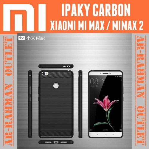 Foto Produk Xiaomi mi max mimax 2 casing case cover armor ipaky carbon anti crack dari AR RAHMAN OUTLET