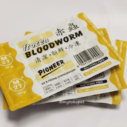 Foto Produk Frozen Bloodworm Pioneer - Cacing Beku dari mytokopet
