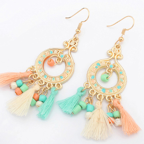 Foto Produk anting panjang rumbai bohemia fashion earrings jan079 dari Oila