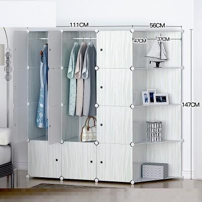 Foto Produk lemari baju portable rak susun minimalis design bersih kuat besi dari Hand and Made Tomoya